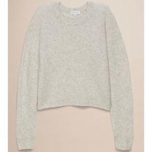 COMMUNITY Aritzia Madras Crop Sweater Gray {D31}